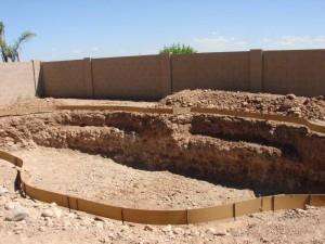 Completed pool excavation